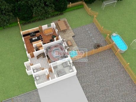 3D holiday cottage floorplan Devon 360