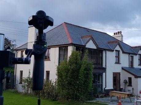 Elevated camera pole photography Devon 360